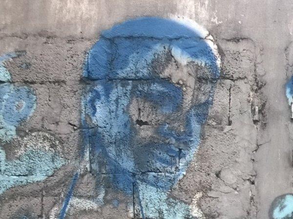 O. Dehoorne, 2014 - peinture murale - Fort de France - détail