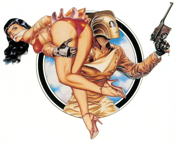 Dave Stevens - The Rocketeer Pin Up